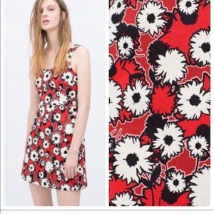 ZARA Trafaluc Floral Crossback Sheath Dress